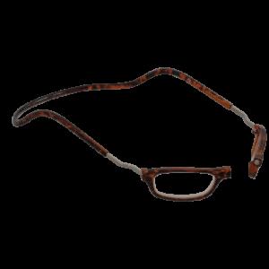 leesbril magneetbril classic XL schildpad bruin