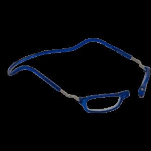 leesbril magneetbril classic XL blauw