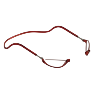 leesbril magneetbril half maantje rood