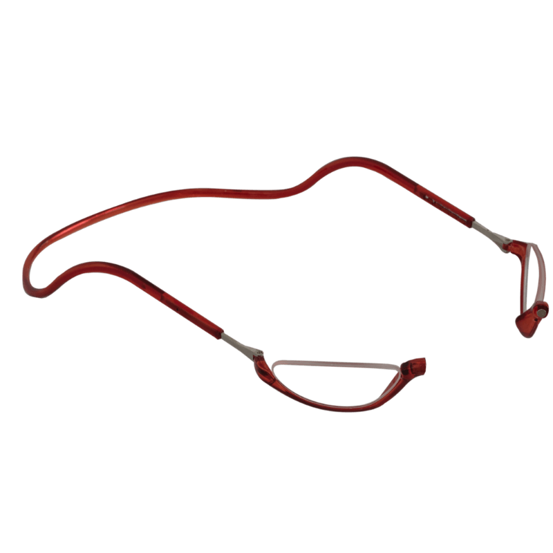 Lesebrille Magnetbrille Halbmond rot