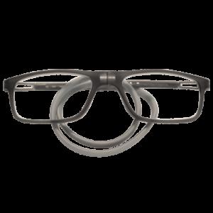 grijs vierkante flexibele magneetbril