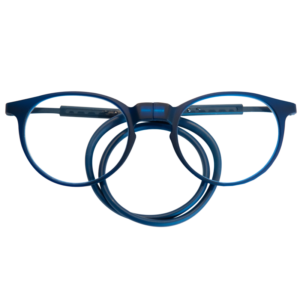leesbril magneetbril flexibel blauw rond