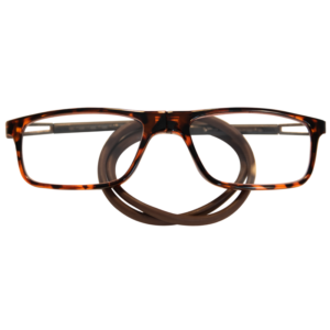 Lesebrille Magnetbrille flexibel-braun-Schildkröten rechteck