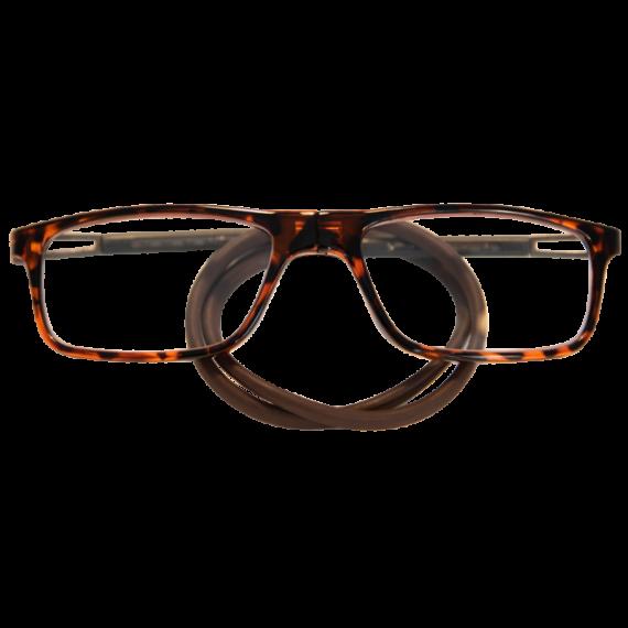 leesbril magneetbril flexibel-bruin schildpad rechthoek