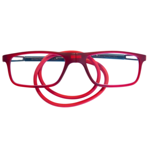 Lesebrille Magnetbrille flexibles rotes Rechteck