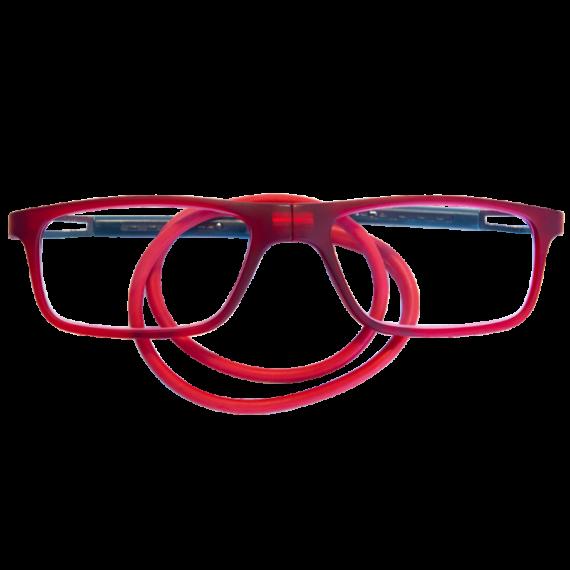 leesbril magneetbril flexibel rood rechthoek