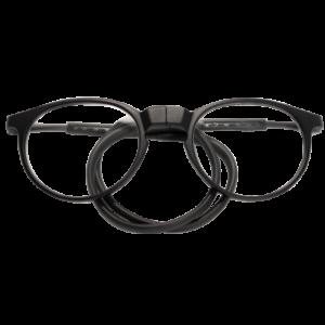 leesbril magneetbril flexibel zwart rond